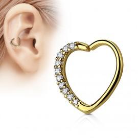 Falešný piercing do ucha černý - průměr 6 mm