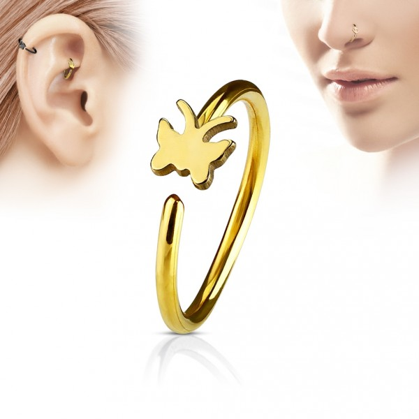 Extravagantní ocelový prsten, velikost prstenu 52