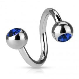 Dvojitý prsten hroty - zlacené