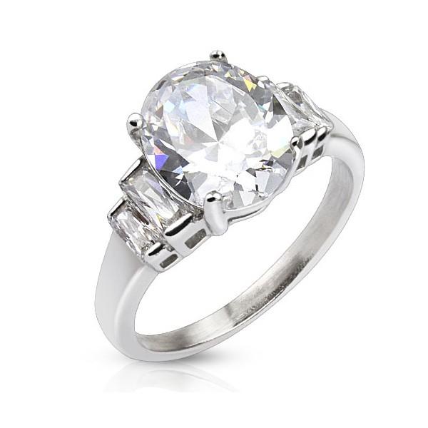 Ocelový prsten - srdíčko, velikost prstenu 50