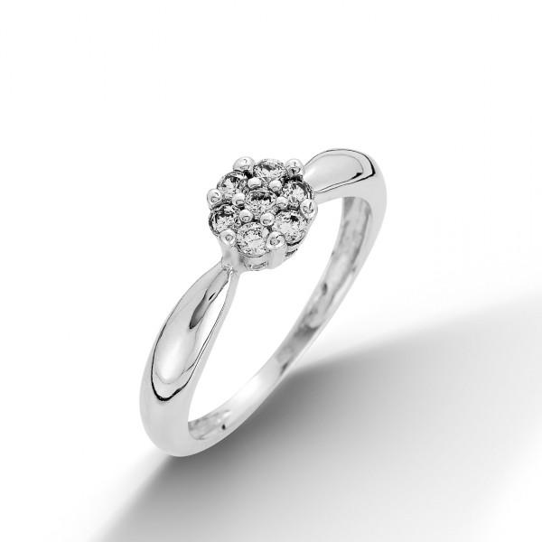 Dámský prsten se zirkony, velikost prstenu 50