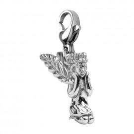 Ocelový přívěšek na klíče s motýlky
