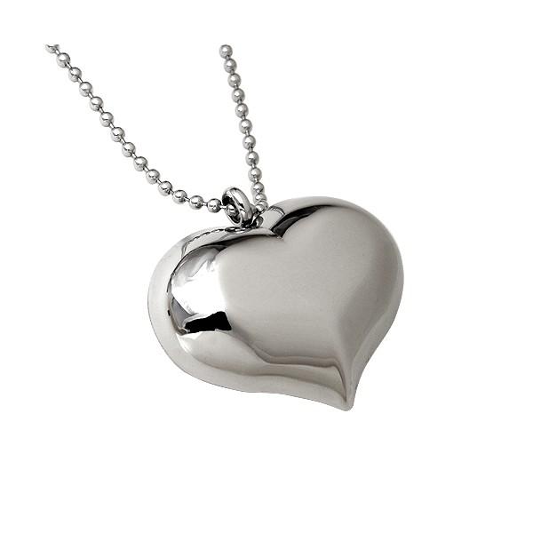 Ocelový řetízek s přívěškem srdce, délka řetízku 40 cm