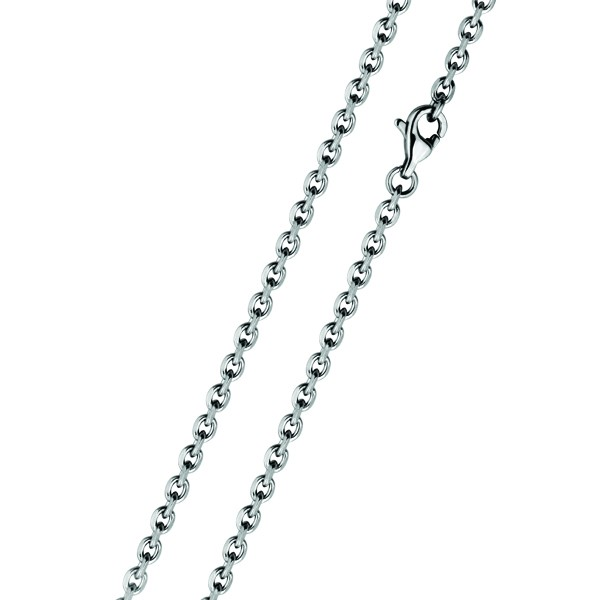 Stříbrný náhrdelník - řetízek s kuličkou, délka řetízku 43 cm