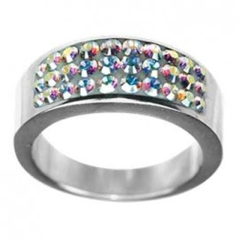 Stříbrný přívěšek s kamenem Crystals from SWAROVSKI®, barva: Vitrail Light