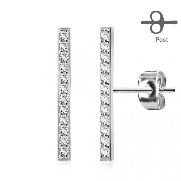 Stříbrné perlové náušnice - bílé perly 9 mm
