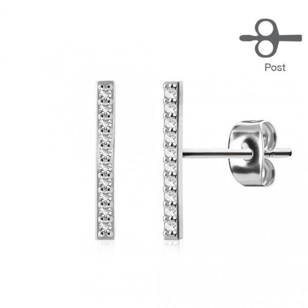 Stříbrné perlové náušnice - černé perly 9 mm
