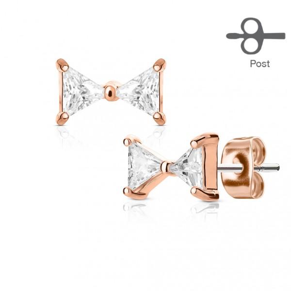 Stříbrné perlové náušnice - růžové perly 9 mm