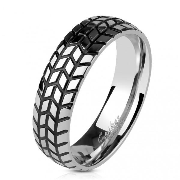 LEVIEN Ocelový prsten SWAROVSKI® elements, Crystal, velikost prstenu 52