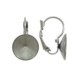 Stříbrný piercing do pupíku - kytička