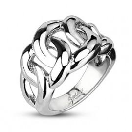 Stříbrný piercing do pupíku - kytičky