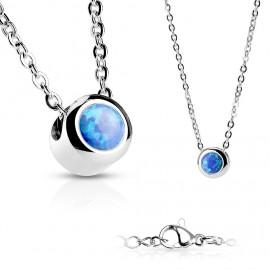 Ocelový prsten zdobený krystaly RSW1022