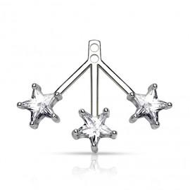Stříbrný set náušnice + přívěšek, SWAROVSKI® el., Kostky Crystal AB