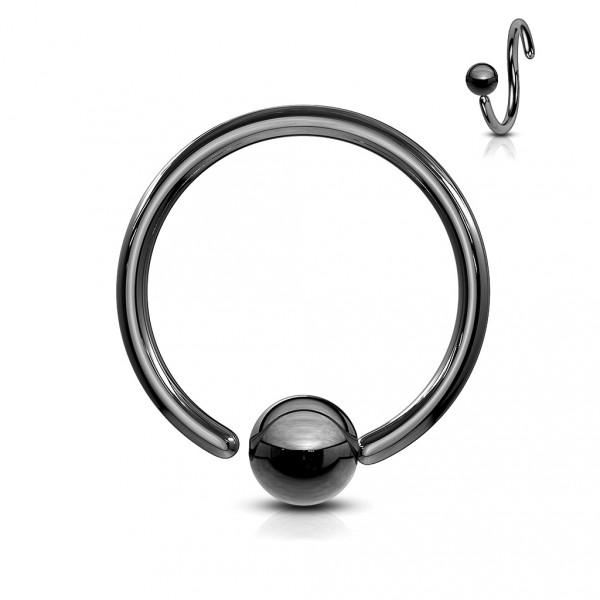 Ocelový prsten zdobený čirými krystaly, velikost prstenu 52