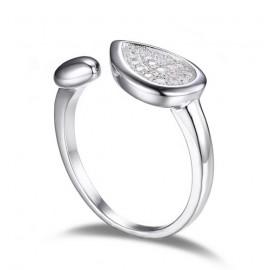 Stříbrný prsten s přírodní perlou 8 mm, vel. 57
