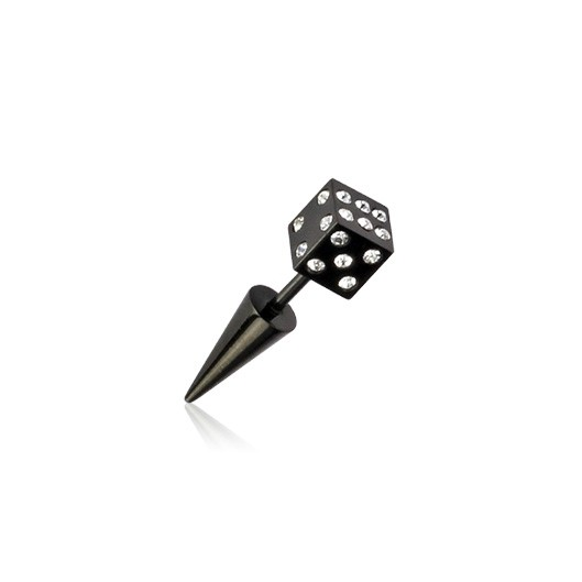 Ocelový prsten zdobený čirými krystaly
