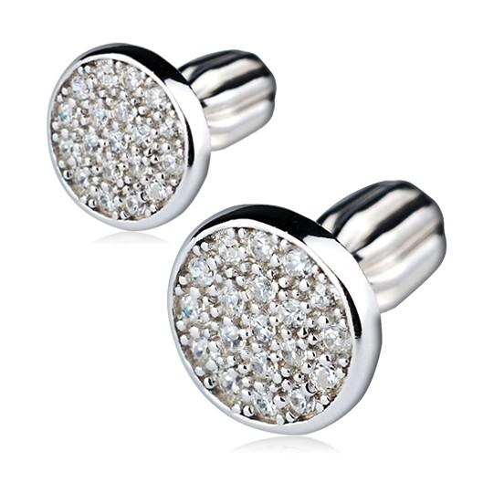 Perlové náušnice Buka Lotus – bílé perly