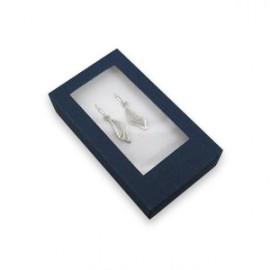 Šroubovací stříbrné náušnice s kameny Crystals from SWAROVSKI®, barva: Violet