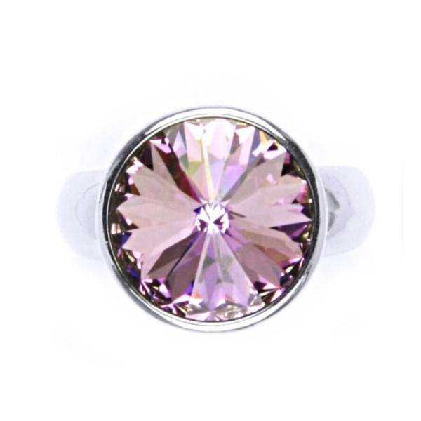 VÝROBCE EVG MADE WITH SWAROVSKI ® CRYSTALS 35021.3 bl.diamond, velikost prstenu 58