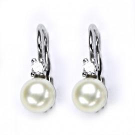 Stříbrné náušnice přírodní perly 5,5 mm