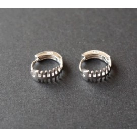 Stříbrné náušnice kroužky rybí kost