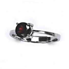 Stříbrný prsten s granátem 6 mm