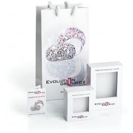 Dívčí stříbrné náušnice srdíčka s krystaly Crystals from Swarovski®, Crystal