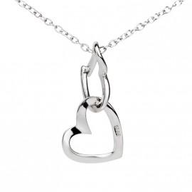 Stříbrný náhrdelník srdíčka