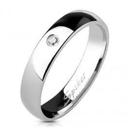 Ocelový prsten se zirkonem OPR1404