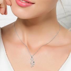 Stříbrný náhrdelník kočičky