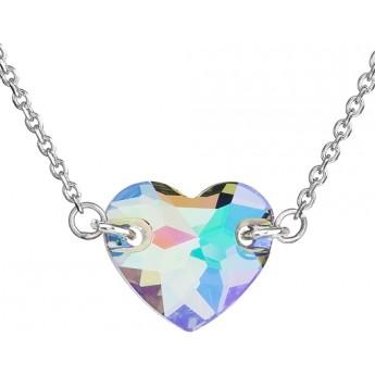Stříbrný náhrdelník srdce Crystals from Swarovski® Paradise Shine ... c4fad7bebf4