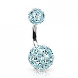 Piercing do pupíku zdobený krystaly Swarovski®