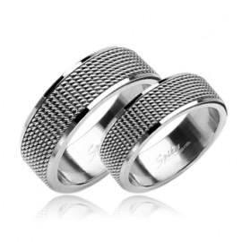 Prsten chirurgická ocel, šíře 8 mm