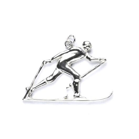 Stříbrný přívěšek - běžkař