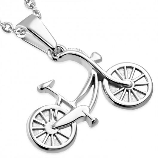 Ocelový přívěšek - jízdní kolo