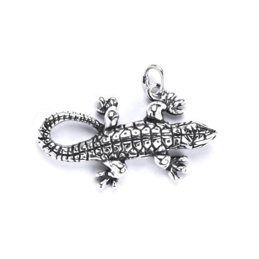 Stříbrný přívěšek - ještěrka