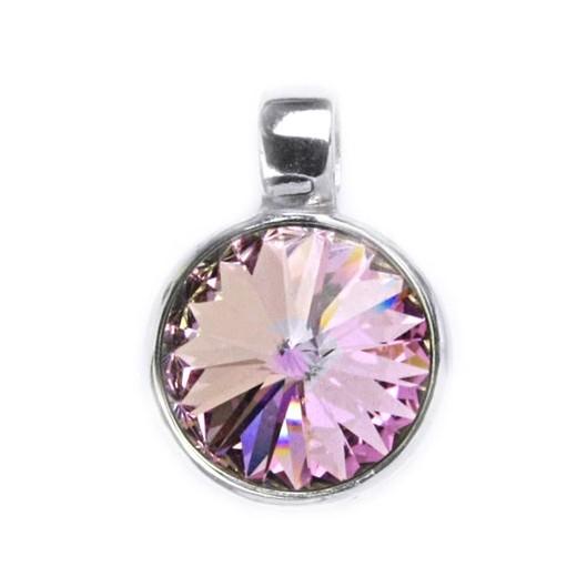 Stříbrný přívěšek s kamenem Crystals from SWAROVSKI®, barva: LIGHT VITRAIL