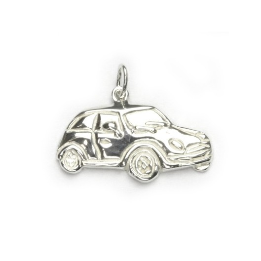 Stříbrný přívěšek - auto