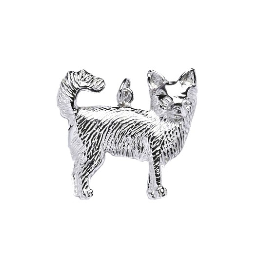 Stříbrný přívěšek pes čivava