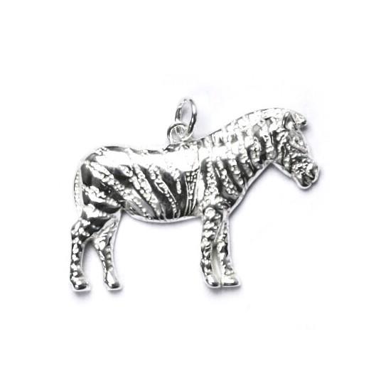 Stříbrný přívěšek - zebra