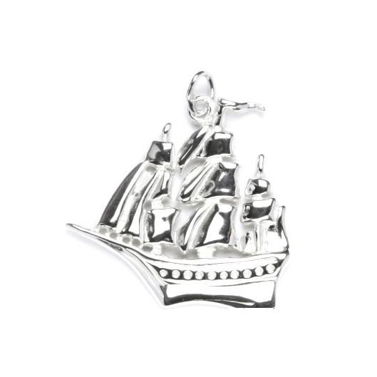 Stříbrný přívěšek - loď plachetnice