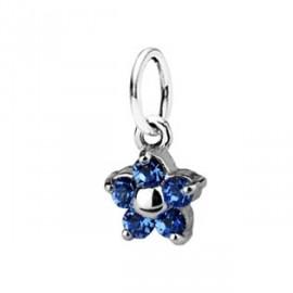 Dětský přívěšek kytička, Crystals from SWAROVSKI®, barva: Sapphire