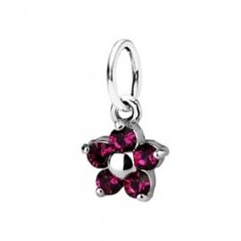 Dětský přívěšek kytička, Crystals from SWAROVSKI®, barva: Fuchsia