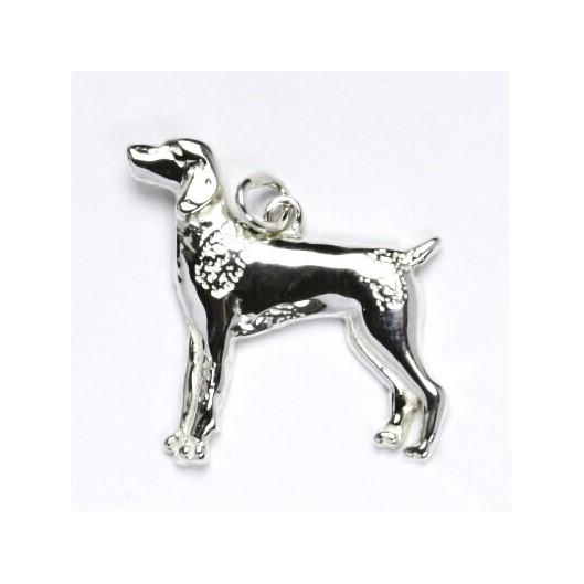 Stříbrný přívěšek pes ohař