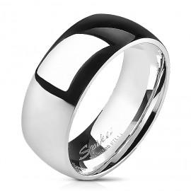 Ocelový prsten lesklý, šíře 8 mm