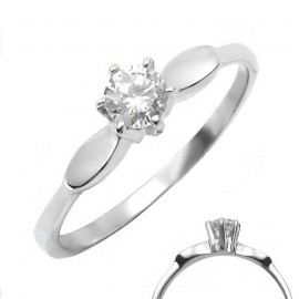 Ocelový prsten se zirkonem - OPR1127