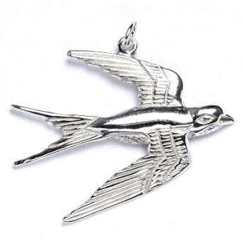 Stříbrný přívěšek - vlaštovka