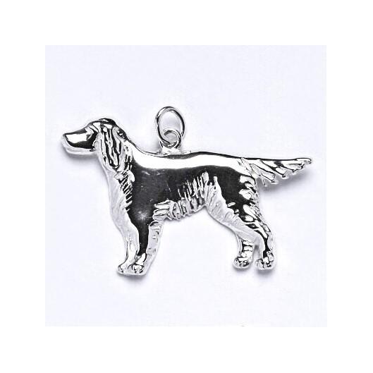 Stříbrný přívěšek pes setr