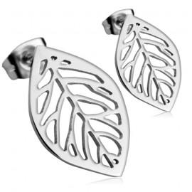 Ocelové náušnice - listy