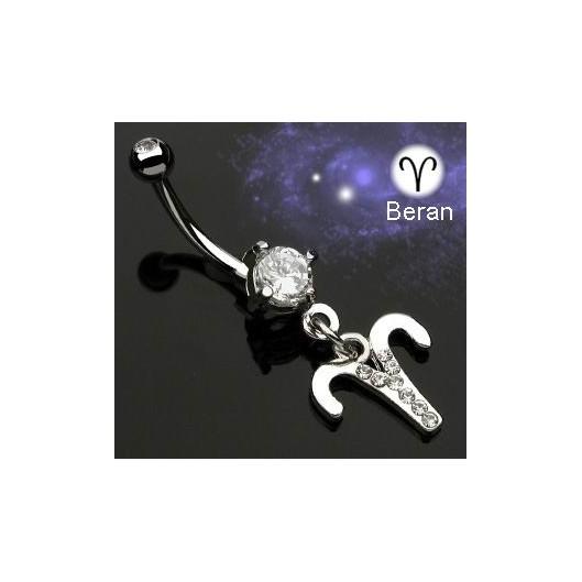 Piercing do pupíku - znamení Beran